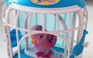 Попугай в клетке игрушка